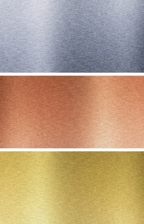 Aluminum, bronze and brass stitched textures Stock Photo - 8582084