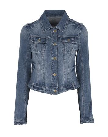 denim wear: Luxuru jeans jacket isolated on white