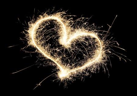 heart sparkler photo