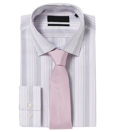 Classic shirt with tie isolated on white photo