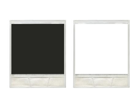 two vintage instant photo frames in white background ready for use  photo