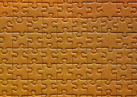 Puzzle in yello. High Quality photo
