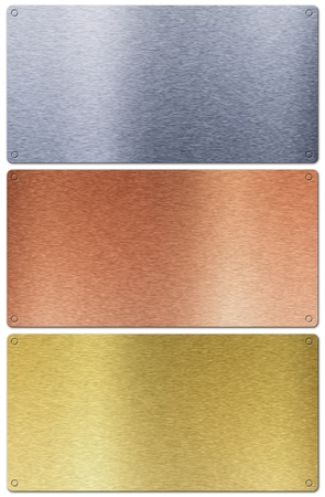 Aluminum, bronze and brass stitched textures Stock Photo - 8821748
