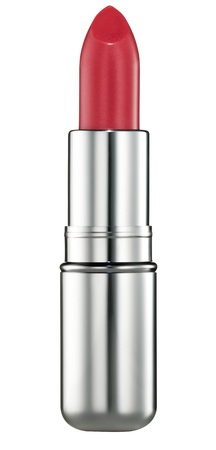 lip stick: Red lipstick on white background Stock Photo