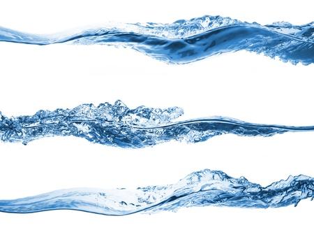Set of water splashing isolated on white background Stock Photo - 8821669