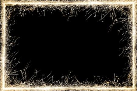 gold border: sparkler frame.