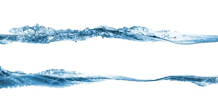 water wave: Wave. Water splashing isolated on white background Stock Photo