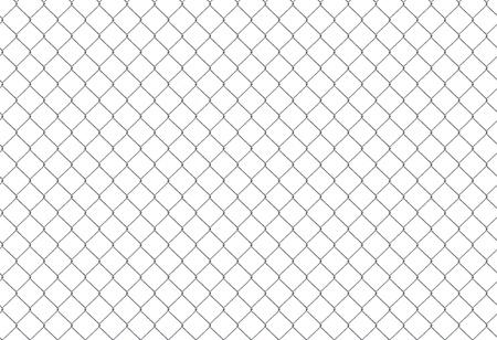 enclosures: Catena di recinzione. Griglia in acciaio isolata on white