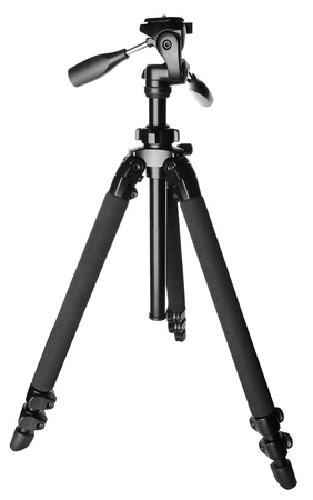 trivet: Camera tripod (stand) isolated on white background