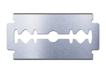 razor blade: razor blade on white background