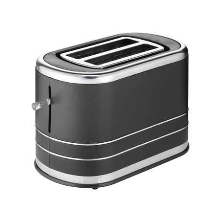 Metallic toaster isolated on white background photo