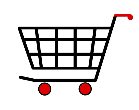 sell online: shopping cart icon illustration Stock Photo