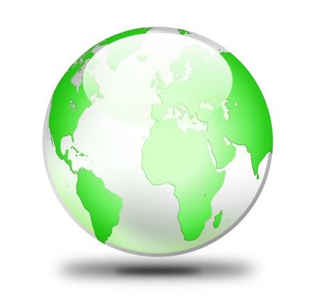 world globe icon on white Stock Photo - 9200079