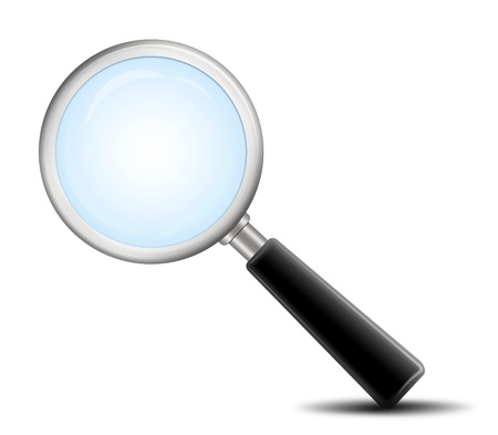 magnifying glass icon Stock Photo - 9200083