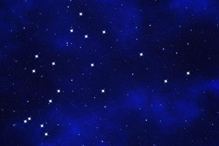 zodiacal: Star-field  background of zodiacal symbol Aquarius