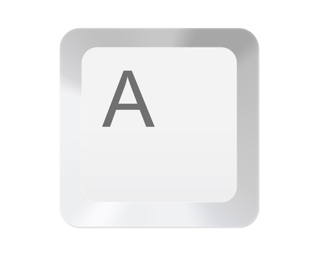 typer: White computer key with letter