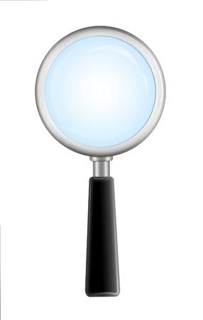 magnifying glass icon Stock Photo - 9473380