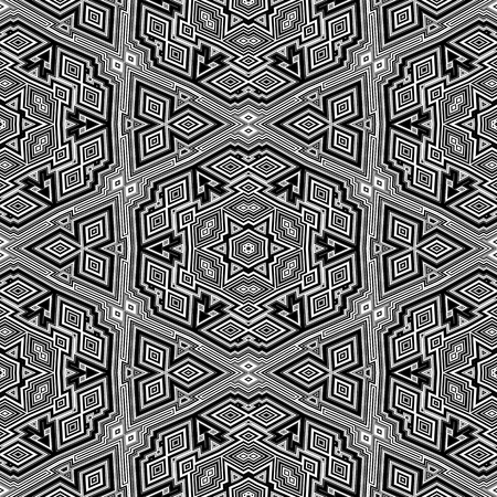 Geometric black and white seamless pattern. 3d boxes repeat background. photo
