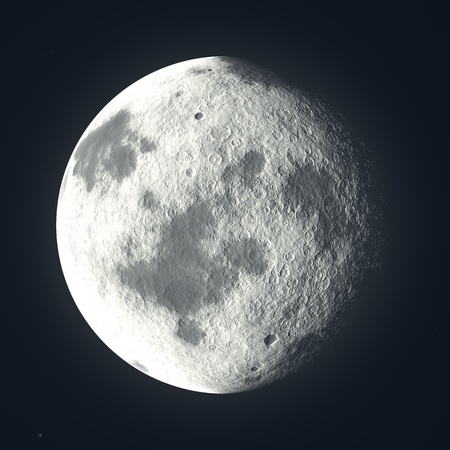Virtual Moon - or planet Stock Photo