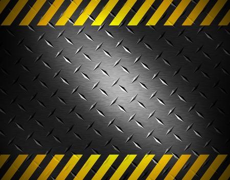 cintas: Fondo de metal con cinta de precauci�n