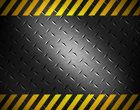 Metal background with caution tape Stock Photo - 9473622