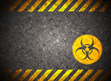 Metal background with caution tape Stock Photo - 9473469