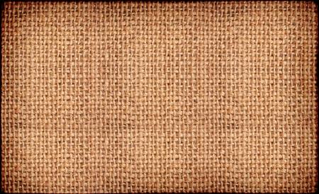 Close-up of natural burlap hessian sacking. Background texture using burlap material.
