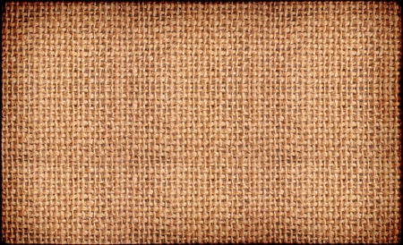 Close-up of natural burlap hessian sacking. Background texture using burlap material. Stock Photo