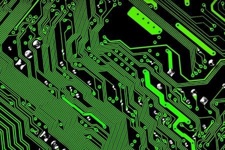 Electronic circuit board - green & black texture photo