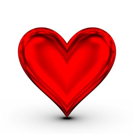 dangerous love: Cuore rosso! simbolo di amore classica Archivio Fotografico
