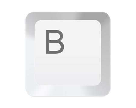 typer: White computer key with letter Stock Photo