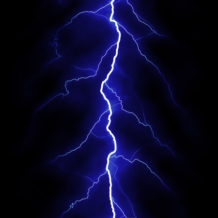 Lightning flash on black background Stock Photo - 9473420