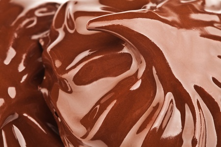 Melted chocolate with ripples and waves (zephyr) Background photo