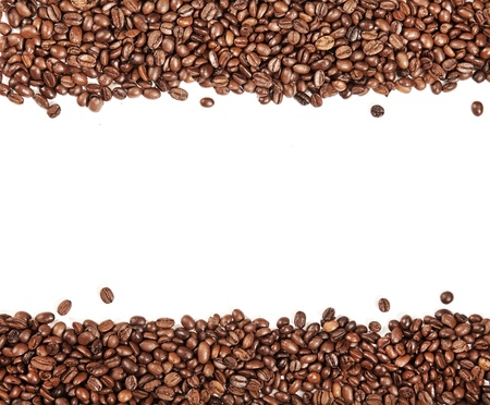 stimulated: White stripe within brown roasted coffee beans Stock Photo