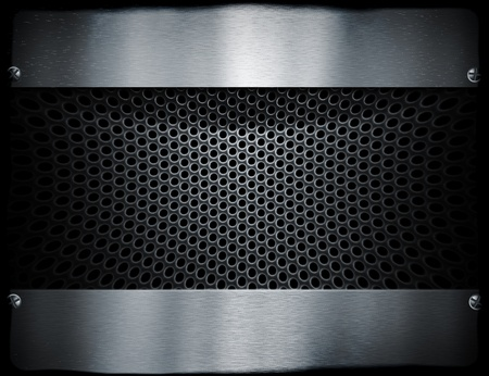 metal mesh: metal template background Stock Photo