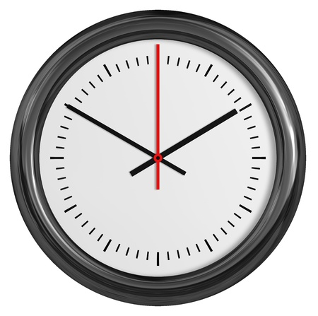 Wall clock. Vector illustration. illustration