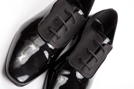 Classic shiny black men's shoes Stock Photo - 10617492