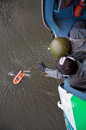 The Man Rescue People After Accident