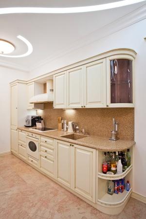 Modern kitchen in luxury mansion photo