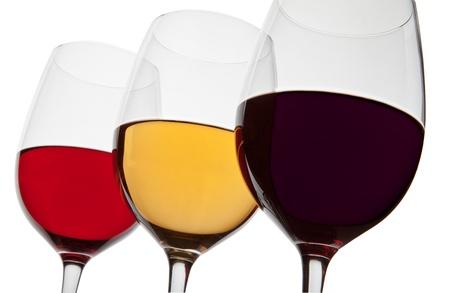 Three glass of wine photo