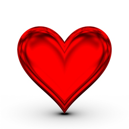 raging: Red Heart! classical love symbol Stock Photo