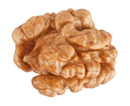 hardiness: Walnuts isolated on a white background