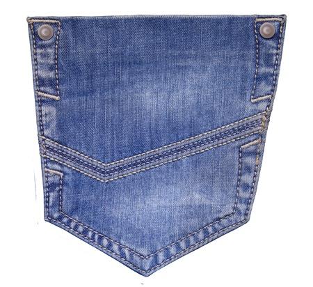 jeans pocket isolated Stock Photo