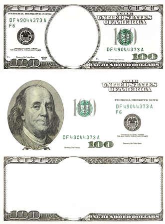 달러: 흰색 배경에 고립 된 원래의 세부 달러 세트 스톡 사진