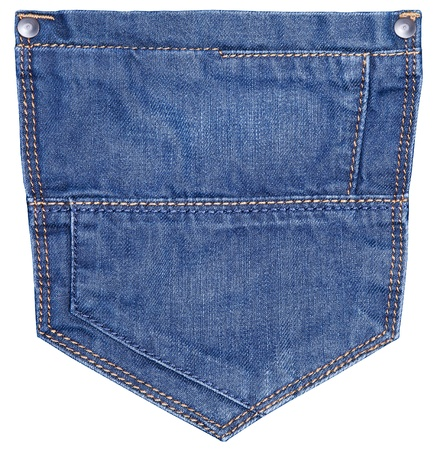 jeans pocket isolated on white. photo
