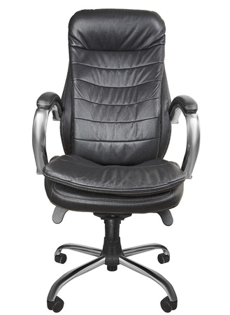 Black office armchair isolated on white background photo