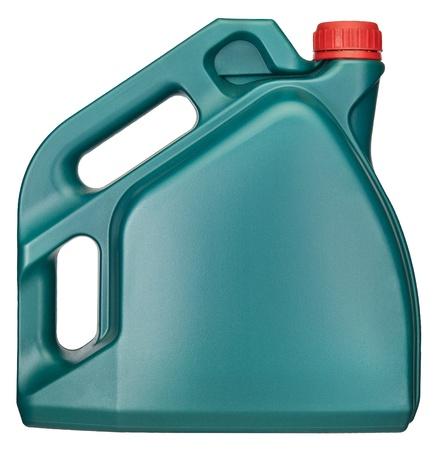 petrol can: El aceite puede aisladas sobre fondo blanco + trazado de recorte Foto de archivo
