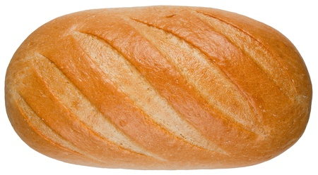 life loaf: A loaf of bread isolated on the white background Stock Photo