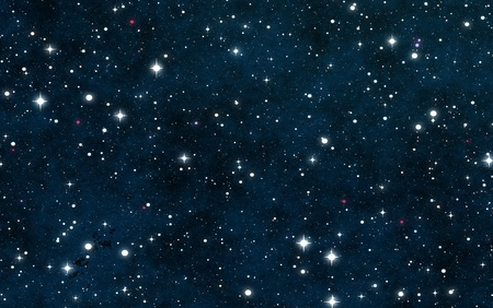 starfield: Seamless Starfield with Glowing Stars at Night