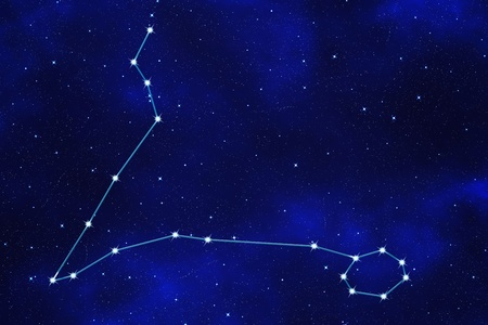 zodiacal: Star-field background of zodiacal symbol Pisces Stock Photo